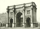LONDON. The Marble Arch- From the Park 1896 old antique vintage print picture